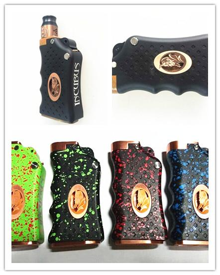 incubus box mod clone dual 18650 battery mechanical mod with gun hammer firing switch for 510. Black Bedroom Furniture Sets. Home Design Ideas