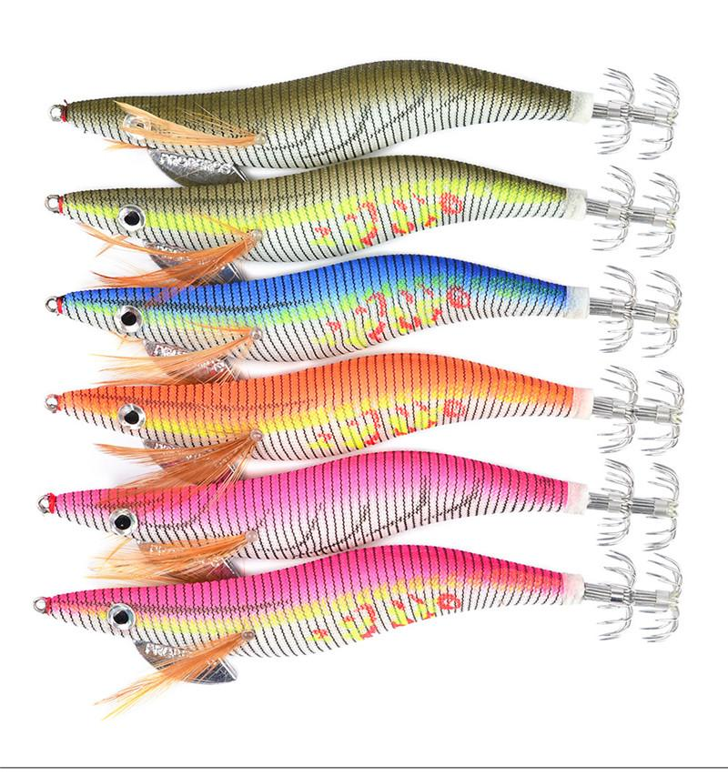 Large 4.0# lifelike Shrimp Artificial Wood octopus bait 15cm 21.5g Night Fishing Fluorescent tail lure hook with box