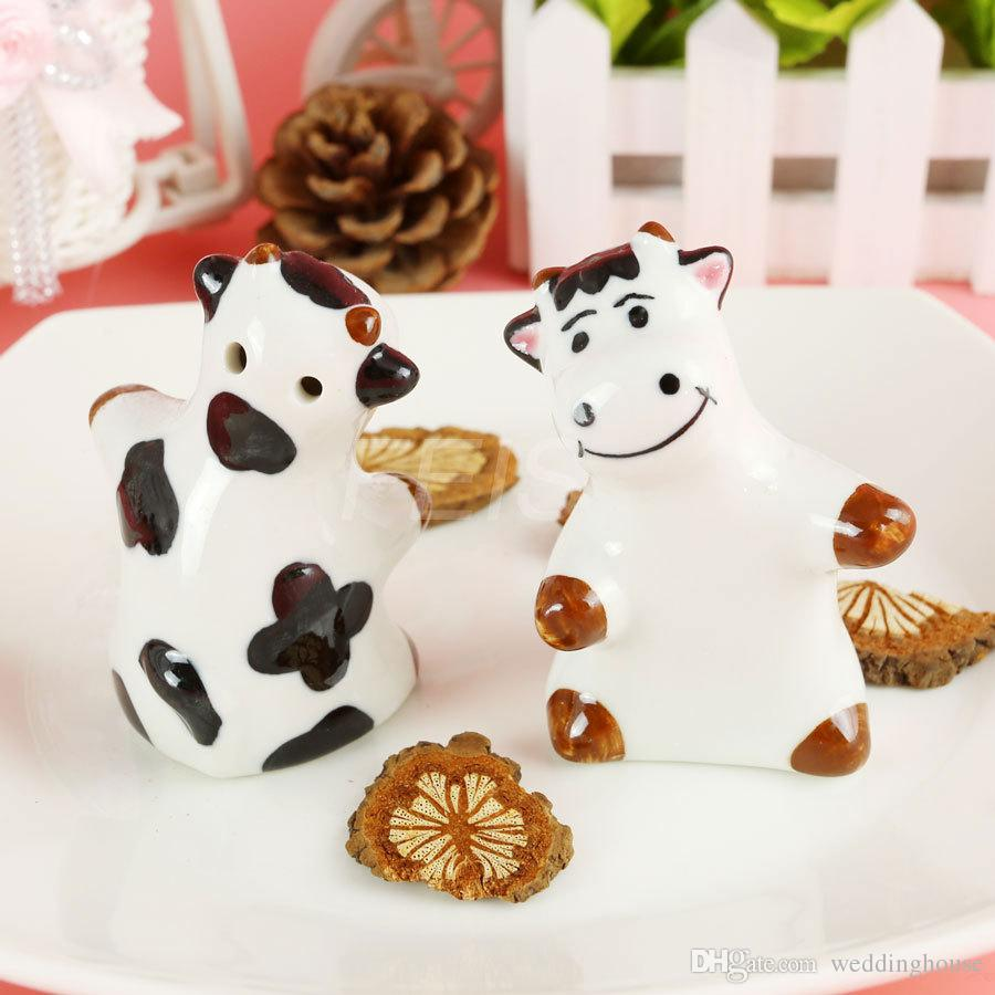 FEIS Wholesale Cow CERAMIC SALT & PEPPER SHAKERS Wedding Favor ...