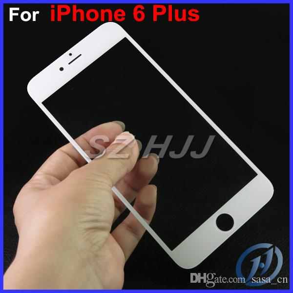 لiphone6 زائد IP6 + جبهة عدسة زجاج الشاشة تعمل باللمس استبدال غطاء للحصول على الجزء فون 6 زائد 5.5INCH دي إتش إل الحرة EMS
