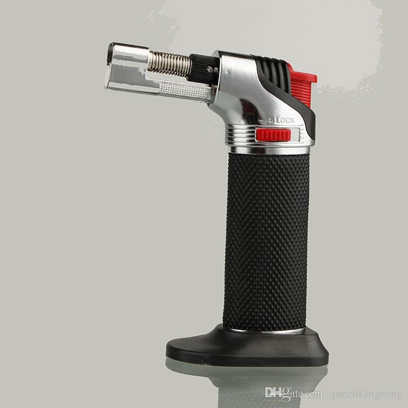 XL Metal Doldurulabilir Bütan Torch Çakmak Rüzgar Geçirmez Jet Flames Mutfak Bruee Mutfak Mikro Torch Çakmaklar Araçları Aksesuarları Gaz Yok