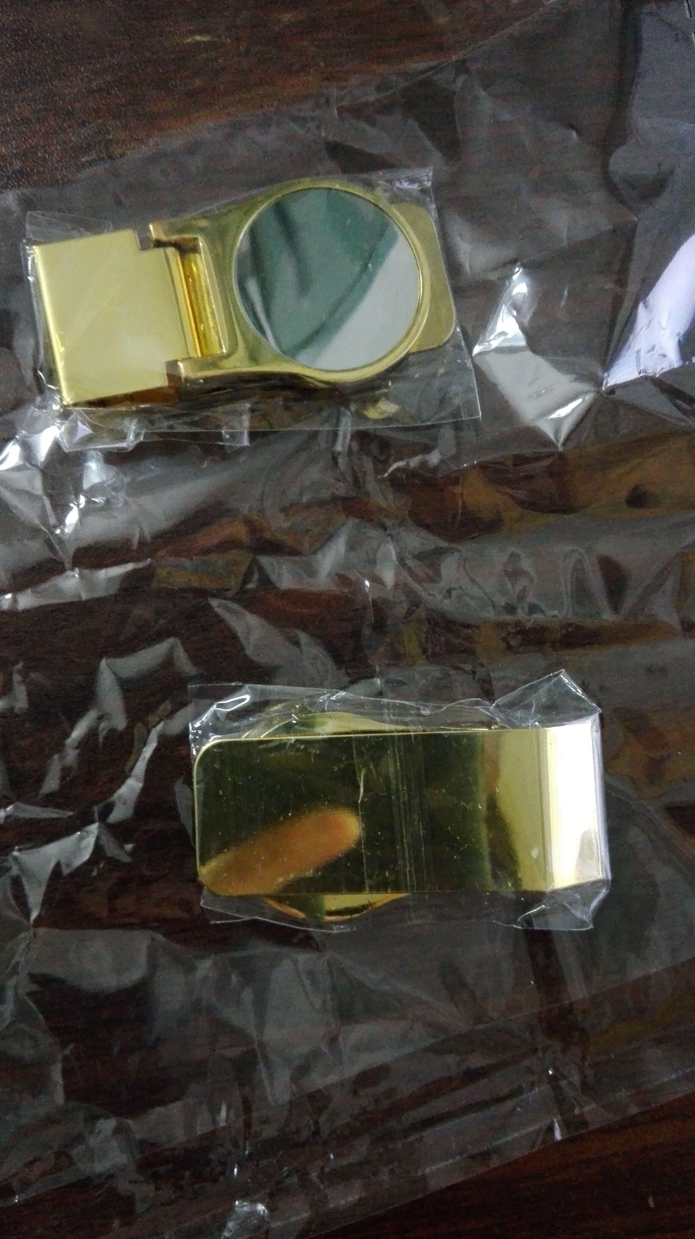 ouro venda clipe de dinheiro quente e prata DIY carteira carteira de aço inoxidável de diâmetro 26,5 milímetros diy jelwery venda quente nova chegada