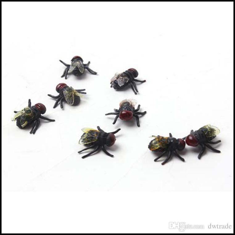 PrettyBaby April Fools 'Day Tricky Speelgoed Simulatie Vlieg Realistische Grappige Prank Joking Fake Flies Toys PT0213 #