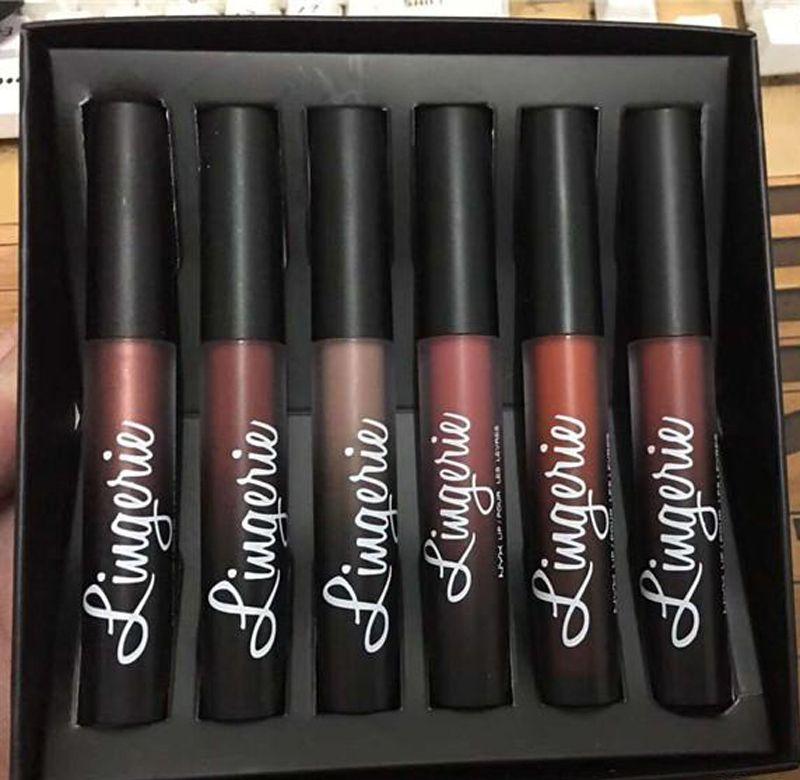 NYX Lingerie Liquid lipstick Luxury Velvet matte nude lip gloss Beauty makeup VS eyeshadow 660223-1