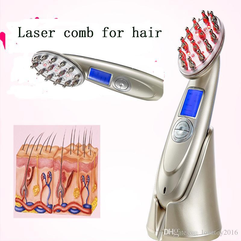 2017 el más nuevo! Láser peine la pérdida de crecimiento del cabello recrecimiento tratamiento eléctrico infrarrojo estimulador cuidado