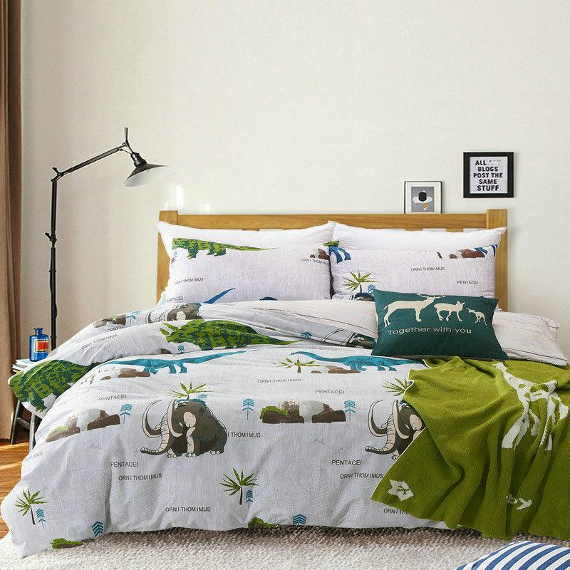 100Cotton Dinosaur Bedding Set Home 200TC Duvet Cover Brief Style Bed Set  Animal Twin Queen King Size Bedding King Size Duvet From Beijiguang719, ...