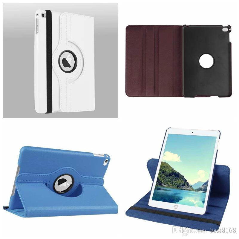 360 Rotating Leechee Litchi couro para o iPad Mini 4 3 2 1 Pro 12.9 10.5 Air 2018 17 vezes carteira Stand Holder Holster Caso tablet Tampa