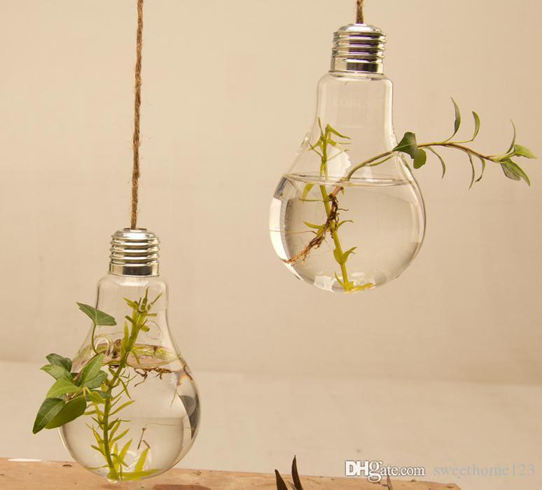 8*14cm Transparent Glass Hanging Bulb Vase For Wedding /Flower ...