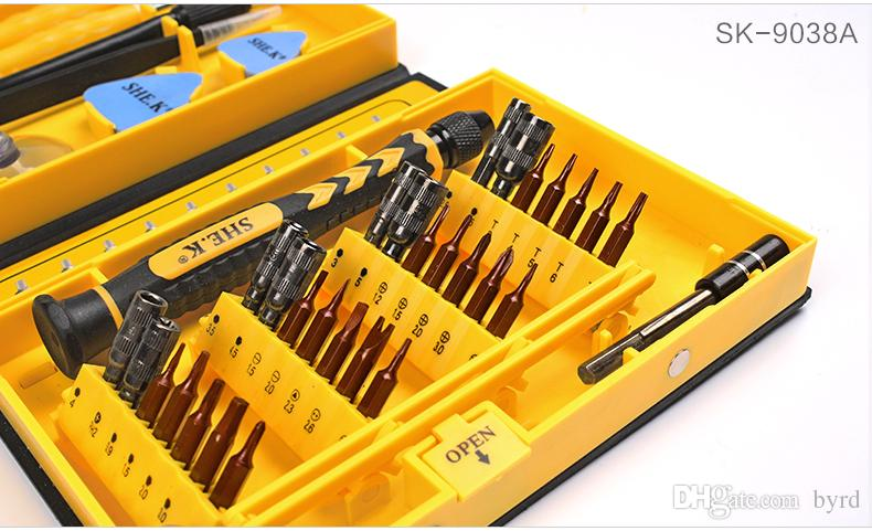 Sale Screwdriver Set 38 IN1 Repair Tools Kit Precision S2 Alloy Steel ferramentas tool for Cell Phone iPhone 4 4s 5 5s 6 PSP T01006