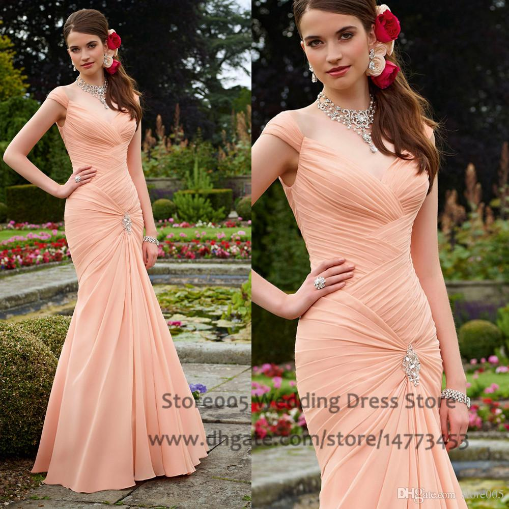 Fast shipping mermaid coral bridesmaid dresses beads cap sleeve fast shipping mermaid coral bridesmaid dresses beads cap sleeve pleated chiffon long 2015 occasion dress floor length b2205 white bridesmaid dress wine ombrellifo Image collections
