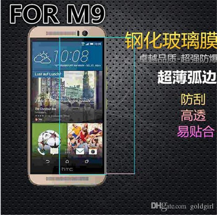 واقي شاشة صلب مقاوم للكسر بحماية زجاجية لجوال HTC One M7 M8 M9 M9 + M10 E8 E9 E9 + A9 X9 butterfly 3 Desire 526 620 626 630 728 816 820 826 830