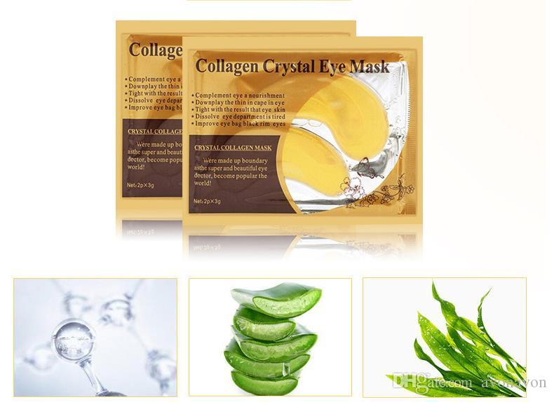 Soins de santé PILATEN Collagène Crystal Masques pour les yeux hydratants Masques pour les yeux Collagène poudre doré masque pour les yeux DHL Livraison gratuite