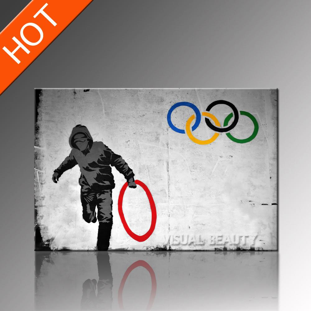 2019 Olympic Banksy Artwork Canvas Art Prints Poster Art Print Home