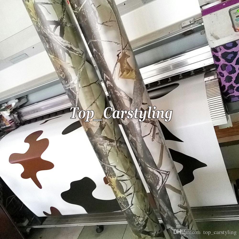 뜨거운! Realtree 카모 비닐 랩 실제 나무 잎 위장 이끼 오크 자동차 랩 자동차 용 필름 호일 호일 커버링 1.52x30m / 롤