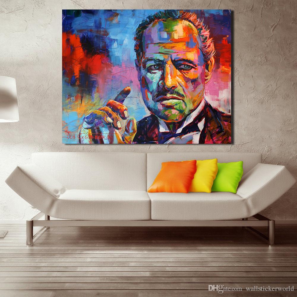 캔에 색 대부 그림 그리기 거실 홈 장식에 대 한 현대 벽 그림 아니 프레임 유화