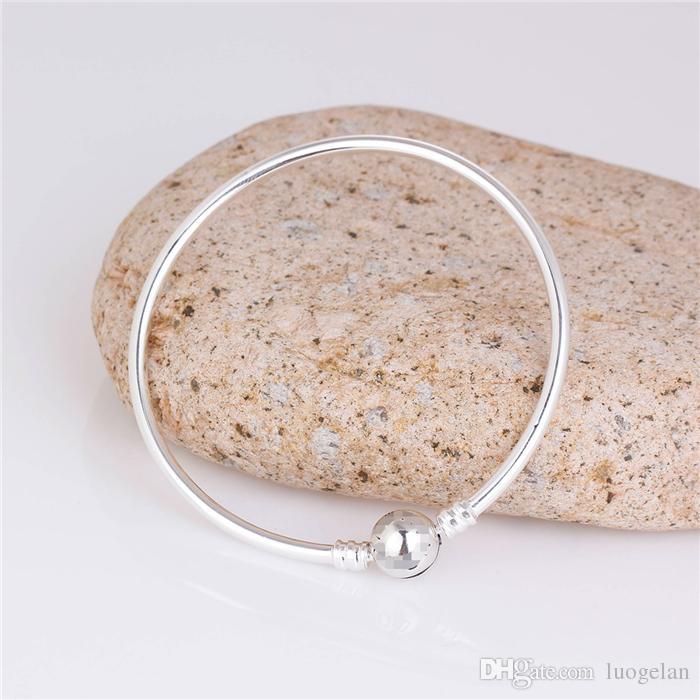Women Fashion s925 ALE Sterling Silver Snake Bracelet DIY Jewelry Findings European Charms Beads Bracelets & Bangle jewelry Making