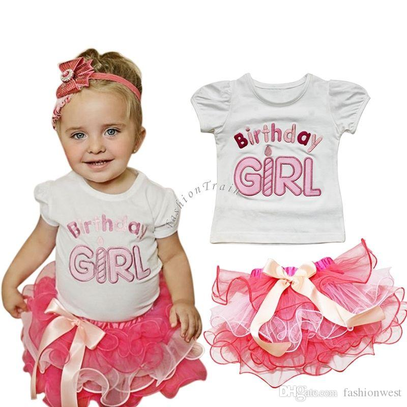 2018 Baby Clothes 1st First Birthday 2016 Baby Girl Outfit