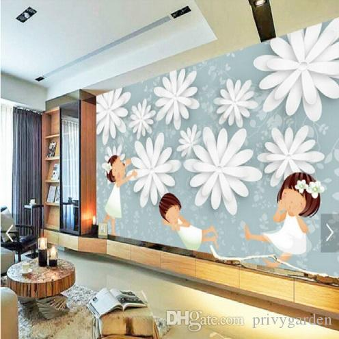 Transparent Flowers Large Children S Room Living Room Bedroom Wall Painting Mural Wallpaper Backdrop Stereoscopic 3d Wallpaper