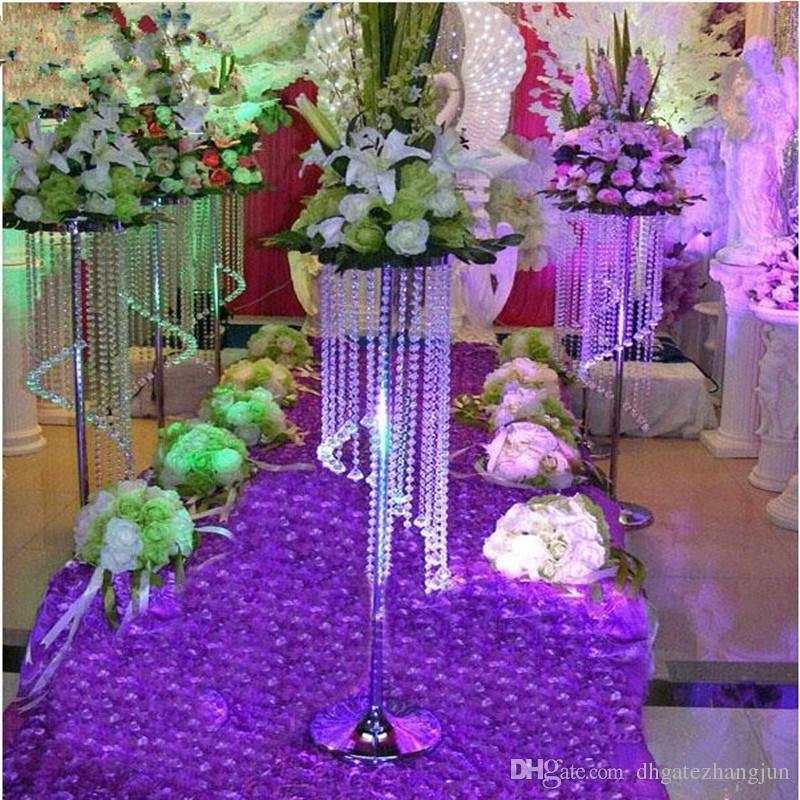 Sale by Bulk Elegant Sparkling Crystal clear garland chandelier wedding cake stand birthday party supplies decorations for table top centerp