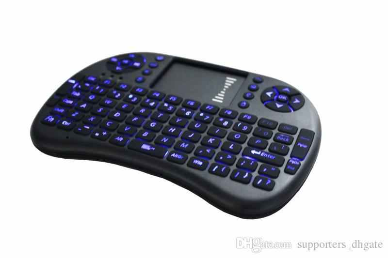 Mini clavier portable Rii Mini i8 Clavier sans fil bluetooth jeu Fly Air Mouse Télécommande multi-média Touchpad Ordinateur de poche Android