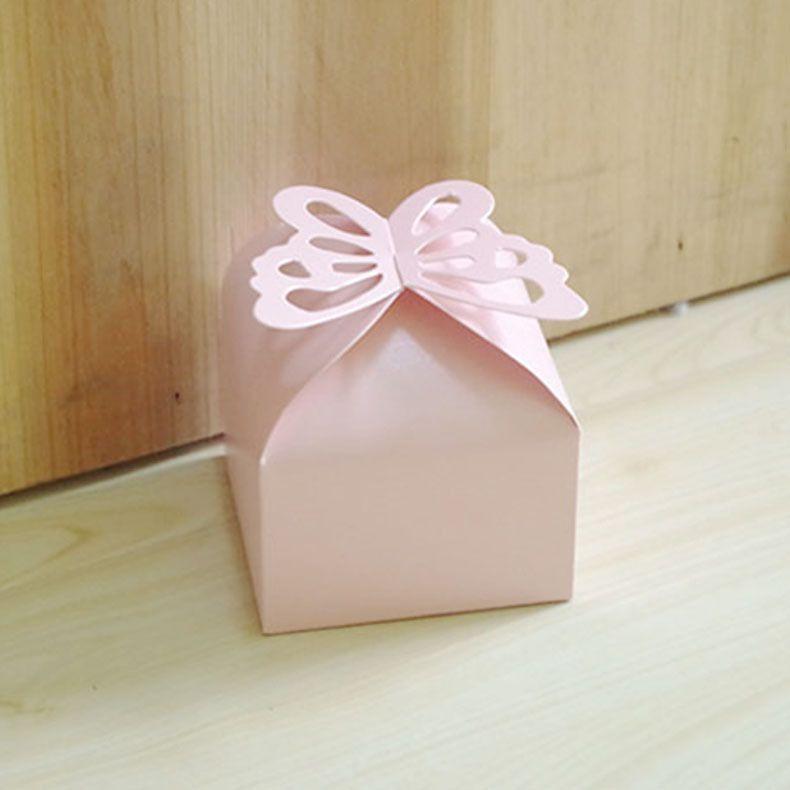 فراشة الجوف خارج مربع حلوى حفل زفاف استحمام الطفل هدية صناديق للحصول على ألوان متعددة 0 الساعات 15hb C R