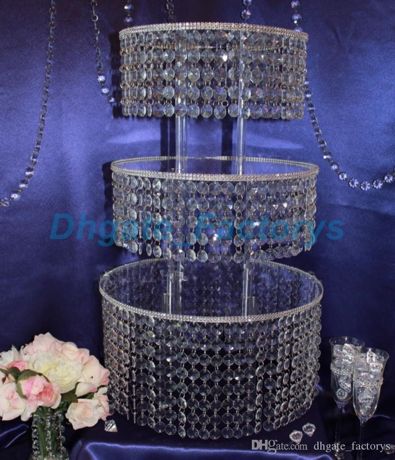 Online Cheap Crystal Chandelier Wedding Cake Stand Acrylic Crystals - Chandelier acrylic crystals