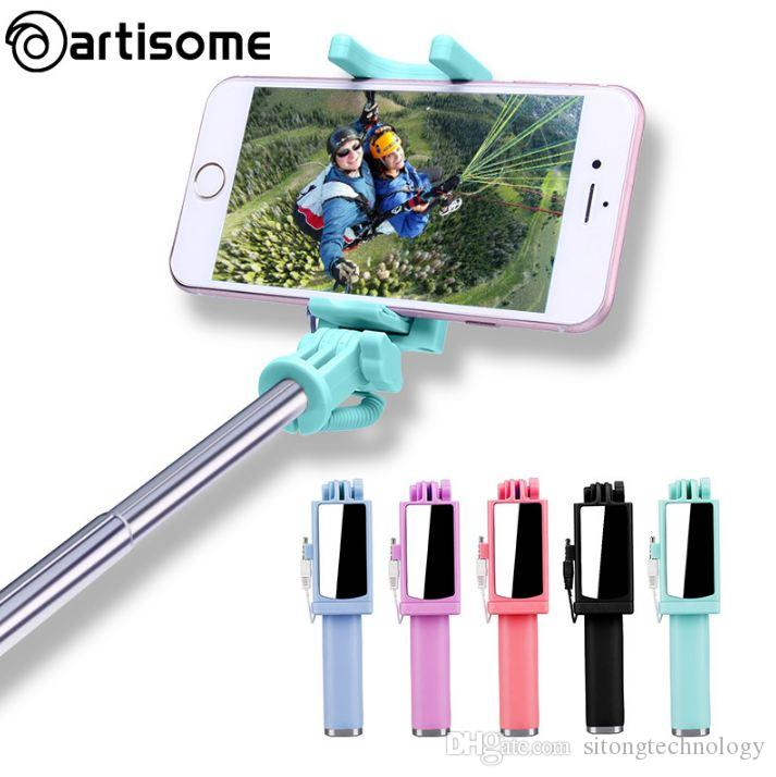 d91aa60e0857b4 2019 Universal Selfie Stick For IPhone 5S SE 5C 6 6S Plus Monopod Wired  Mini Sport Selfie Stick For IOS Androic Perche Selfi Stick From  Sitongtechnology, ...
