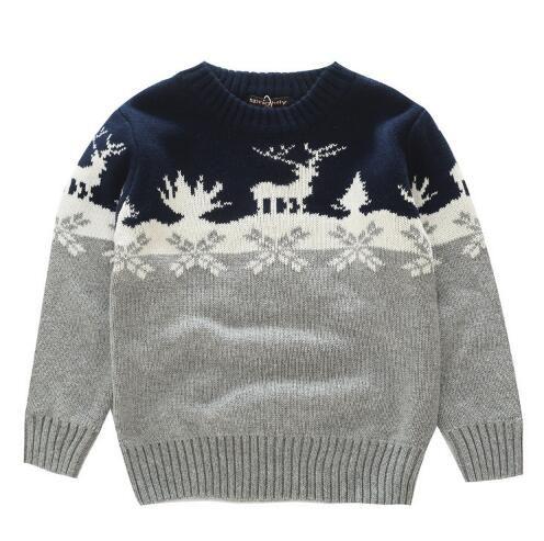 Compre Suéteres Para Niños Patrón De Tejer Casual Chicos Pullovers ...