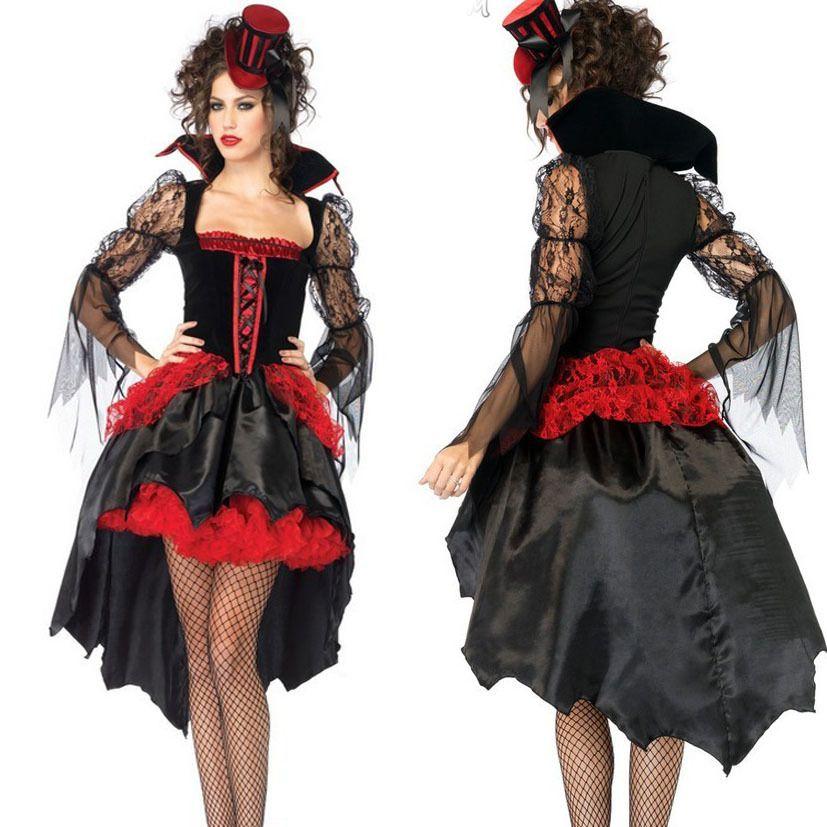 2017 2014 New Halloween Costumes Fancy Dress Devil Vampire Queen ...