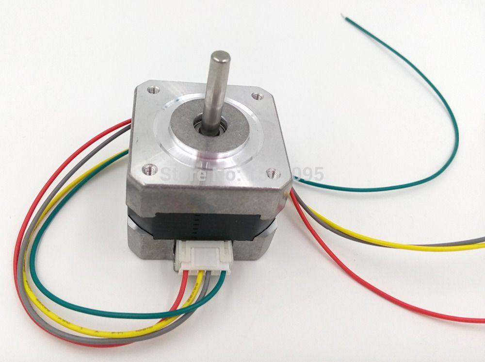 Nema 17 Stepper Motor Bipolar 4 Leads 34mm 12V / 0.4A 26Ncm36.8oz.in  Oz Nema Stepper Wiring Diagram on