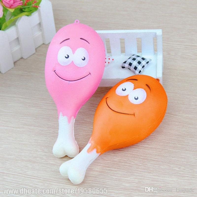 Slow Rising Simulation Chicken Stick Kids Decoration Pretty Drumstick Squeeze Squishies Kawaii Smile Perfume Relax Toys Freeshipping