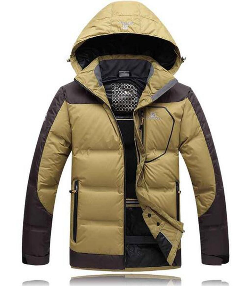 Men's outdoor thickening warm warm brand new authentic cultivate one's morality even cap in the long down jacket coat. M - 3xl