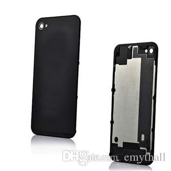 Back Glass Battery Housing Door Cover Replacement Part GSM for iphone 4 4S Black White Color A quality