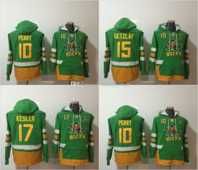 buy popular 51b54 9b517 Hot Sale 15 Ryan Getzlaf Anaheim Mighty Ducks Jersey 17 Ryan Kesler 10  Corey Perry Men s Hoodie Sweater Hockey Jersey Free Shipping