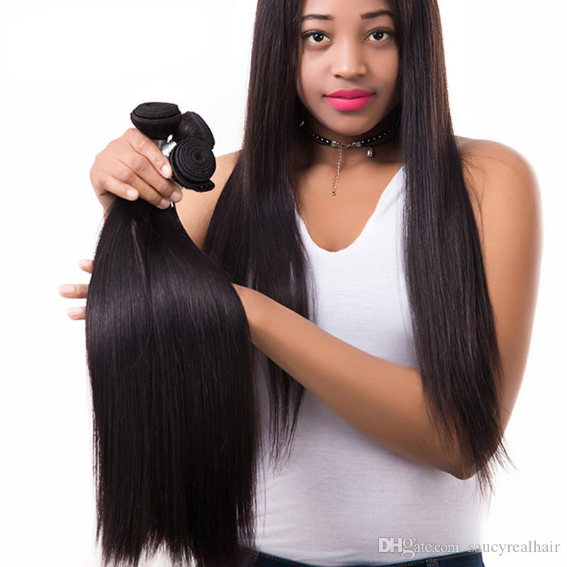 Elibess Grade 10A--100% Human Virgin Hair Silk straight Hair Bundle with double weft, Best Quality No tangle & no shedding, Free DHL