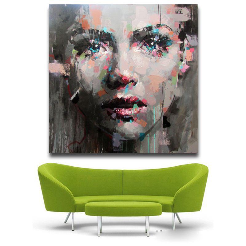 Menina colorida impressão pintura a óleo da parede art Pictures para sala de estar Poster E Prints Modern Sem Framed