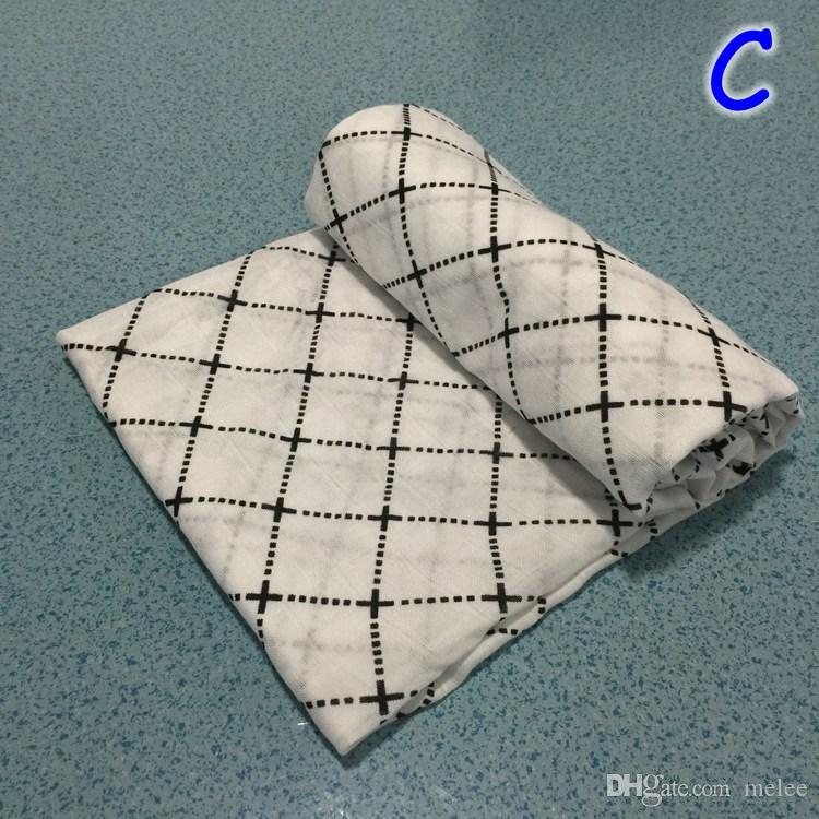 47*47INCH Organic Cotton Bamboo Muslin Swaddle Blanket modern burlap multi-use ins blanket infant parisarc newborn baby wrap Manta de bebe