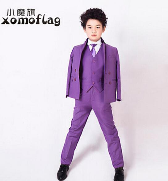 Hot Sale Fashion Boys Suits Flower Girl Dress For Wedding Boy Formal Children Clothing Kids Prom Suit Gowns From