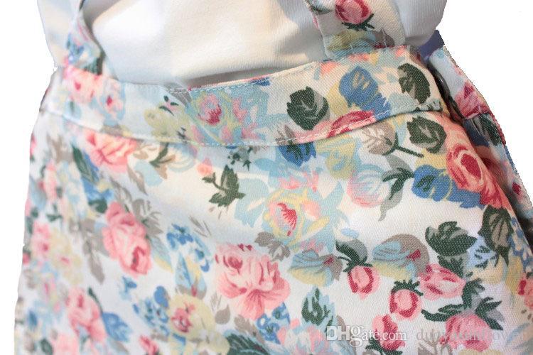 Новорожденный девочка 2-7 Т 2 шт. платье наряд трепал футболку + цветочные Подтяжк брекеты юбка комбинезоны INS популярный стиль Детская одежда