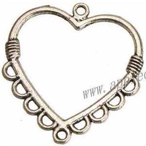 orecchini collane catene pendenti connettori fascini fai da te 1 e 9 multi fori cuore amore aperto metallo cavo 28 * 26mm risultati dei gioielli 300 pz