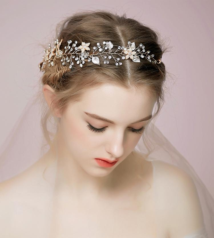 Cheap Wedding Hair Vines For Brides Tiaras Bridal Accessories