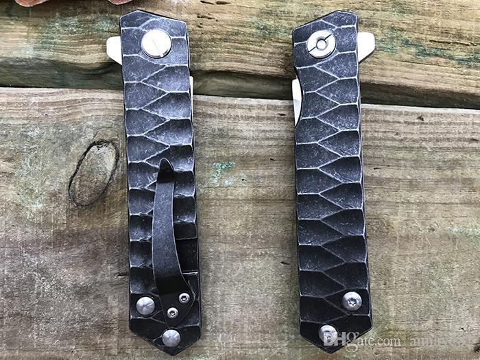 Raffreddare Katana stile D2 lama in acciaio inossidabile manico flipper cuscinetto a sfera campeggio edc strumenti escursionismo tattico sopravvivenza tasca coltello pieghevole
