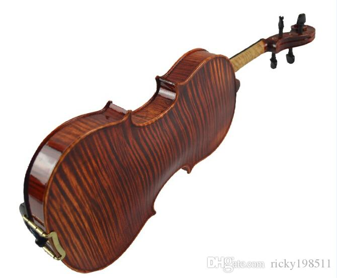 2015 New Arrival Tianyin Brand Independent Board Violin Advanced Natural Tiger Stripe Violin Solo Playing Violin