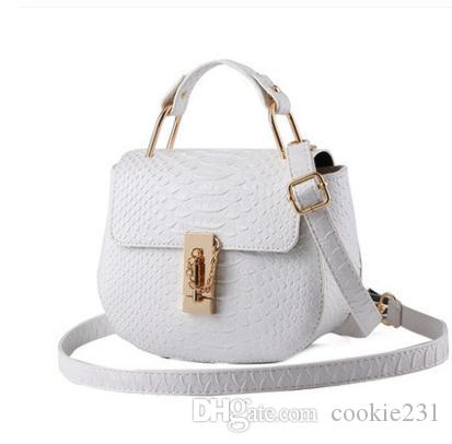 a61b48c571 2017 New Arrival Fashion Women Cosmetic Bags Shoulder Bag PU Leather Women  Small Bag Ladies Messenger Bag Tote Handbags Relic Purses From Cookie231