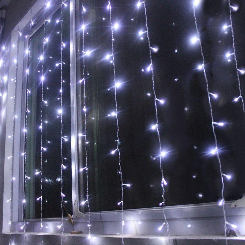 3M * 1.5M 144 LED 고드름 빛 문자열 요정 커튼 웨딩 Garlands 스트립 조명 야외 홈 파티 크리스마스 Xmas 장식