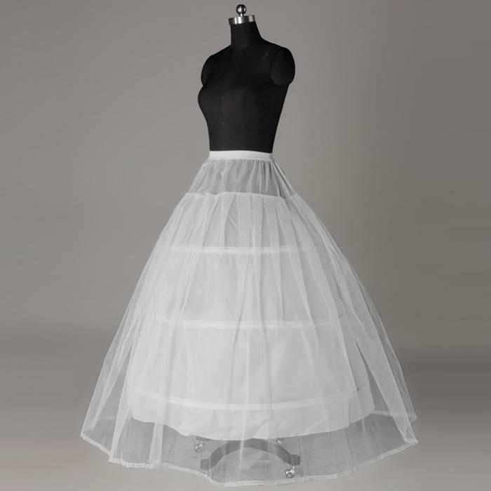 Nouvelle arrivée 2015 Mode White Underkirt Crinoline Mariage Crinoline Petticoat pour robe de bal robes de mariée