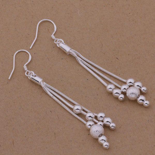 Горячие новые различные бусины мульти цепи мода производитель ювелирных изделий серьги стерлингового серебра 925 ювелирные изделия заводская цена мода E322