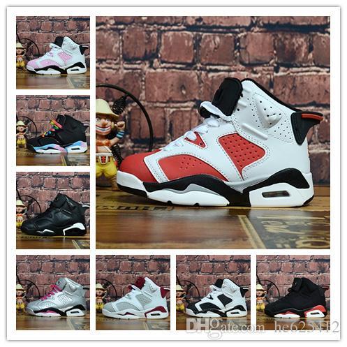 3b2bd716527 Gatorade Boy & Girl 6s Kids Basketball Shoes Hare Oreo Black White Red  Children Athletic Sports Boy Girl 6s Sneaker Boys Running Shoes Size 5  Junior ...
