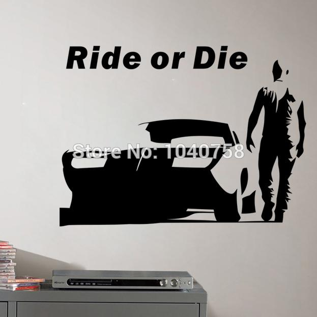 The fast and furious wall stickers home decoration for for Cars movie wall mural