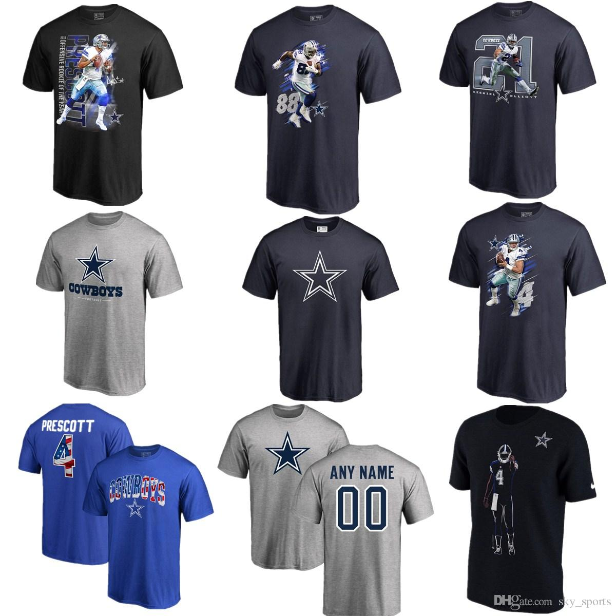 83eeb86c4 Men S American Football DALLAS COWBOY  4 Dak Prescott 21 Ezekiel Elliott 82  Jason Witten 9 Tony Romo 88 Dez Bryant 97 Taco Charlton T S Design And  Order T ...